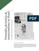 Primórdios da história do sensacionalismo no Brasil