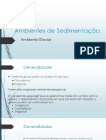 Ambientes de sedimentacão - Ambiente Glacial