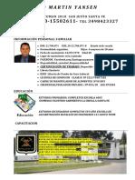 Curriculum Vitae Santiago Yansen 2019