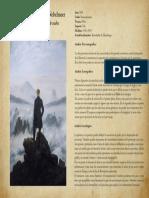 """Analisis  de la pintura """"El caminante sobre el mar de nubes"""""""