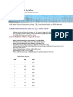 Calculate Size of Contactor, Fuse, C.B, Over Load Relay of DOL Starter