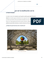 (Crear Salud) ¿Qué Tiene Que Ver La Meditación Con La Creatividad