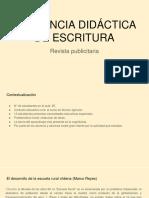 Secuencia Didáctica de Escritura