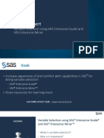 Variable Selection in SAS Enterprise Guide and SAS Enterprise Miner - Ask the Expert - May 11 2017