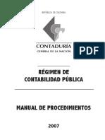 regimen de contabilidad publica