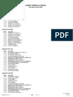 Ahern School Bus Routes 2019-20