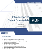 W1. Introduction to Object Oriented Design (1)