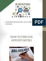 Job Hunting IRFAN ZAIDI