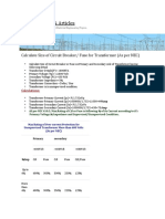 Calculate Size of Circuit Breaker or Fuse for Transformer (As per NEC).docx