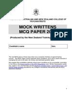 Mcq Paper 2016 Nz