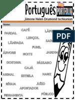 Português Ensino Fundamental Sílaba Tonica