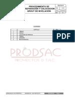 Procedimiento de Preparacion y Colocacion de Grout de Nivelacion