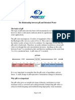 Relationship Between Ph and Deionized Water