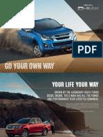 Isuzu D-MAX Vehicle Brochure