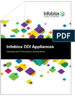 Infoblox DDI Appliances. Hardware and Performance Specifications - PDF