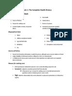 Module 1 Complete Health History.docx