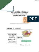 Unidad I Introducción a La Química Biológica