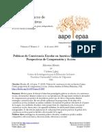 Políticas de Convivencia Escolar en América Latina