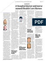 Heart hospital doctor and nurse are named Health Care Heroes