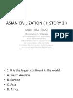 Asian Civilization ( History 2 ) Midterm