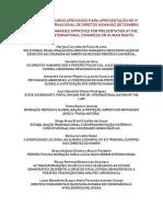 Lista de Resumos Aprovados CIDH Coimbra 2019