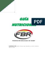 GUÍA NUTRICIONAL FBR, por MARCELA ANTEZANA