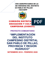 Proyecto escuelas Campesino