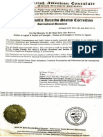 Status Correction Judicial Notice and Proclamation