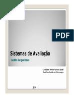 2014-Sistemas de Avaliao Conceito Geral de Qualidade