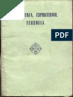 VILARIÑO, REMIGIO-Masonería, Espiritismo y Teosofía
