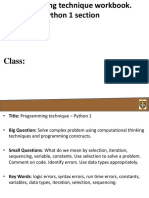 programming technique- python 1- workbook