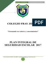 Plan Plan Integral de Seguridad Escolar Cfj 2017