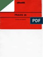 Olivetti Praxis 20 - Manual de Utilizacao