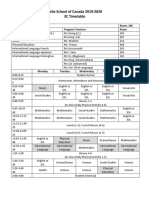 3c time table