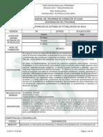 1. Estructura Curricular TC. Potabilización de Agua