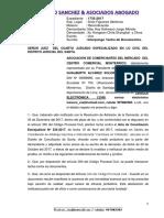Escrito Tacha Documento Monterrico