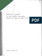 MILLONES, Luis (1987). Historia y Poder en Los Andes Centrales (Desde Los Orígenes Al Siglo XVII). Madrid Editorial Alianza, Pp 40-49