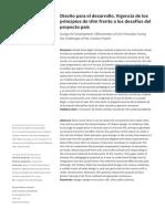 Diseño para el desarrollo.  Vigencia de los principios de ULM frente a los desafíos del proyecto país