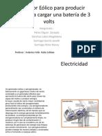 Generador Eólico Para Producir Energía Para Cargar Una