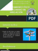 Ética de Un Ingeniero en Irrigación