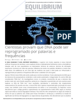 Cientistas Provam Que DNA Pode Ser Reprogramado