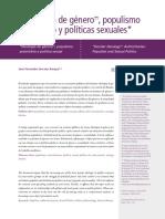 """""""Ideología de género"""", populismo autoritario y políticas sexuales"""