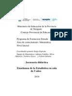 5. Secuencia Didáctica. Enseñanza de La Estadística en Sala de 5 Años.