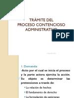 Tramite Del Procesó Contencioso Administrativo