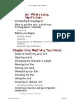 Fontographer User's Manual