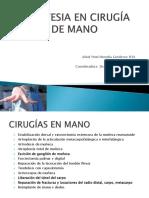 ANESTESIA EN CIRUGÍA DE MANO.pptx