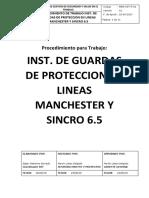 INSTALACION DE GUARDAS DE PROTECCIÓN EN LINEAS MANCHESTER Y SINCRO 6.5