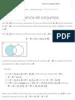 Diferencia de Conjuntos - Teoría de Conjuntos
