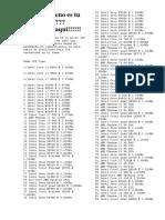 Lista de Procesadores
