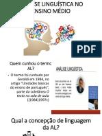 ANALÃ_SE LINGUÃ_STICA NO ENSINO MÃ_DIO